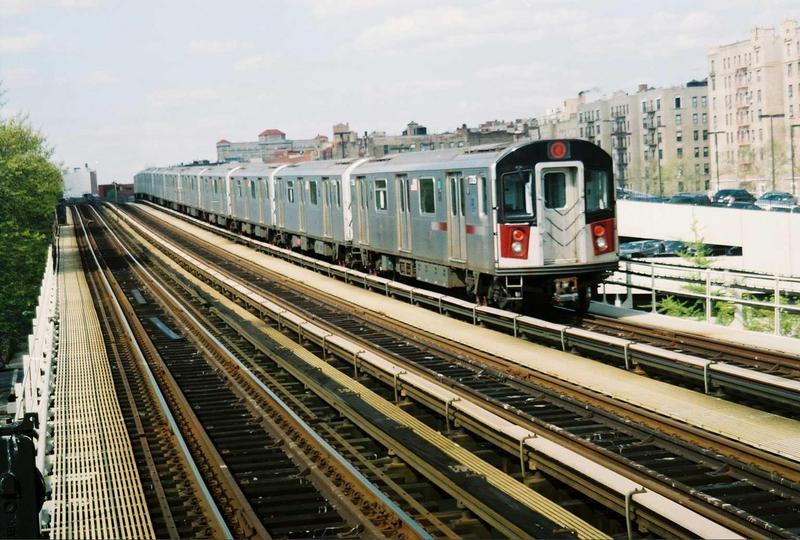(92k, 800x540)<br><b>Country:</b> United States<br><b>City:</b> New York<br><b>System:</b> New York City Transit<br><b>Line:</b> IRT Woodlawn Line<br><b>Location:</b> 161st Street/River Avenue (Yankee Stadium) <br><b>Car:</b> R-142A (Supplemental Order, Kawasaki, 2003-2004)  7735 <br><b>Photo by:</b> Gary Chatterton<br><b>Date:</b> 5/1/2005<br><b>Viewed (this week/total):</b> 2 / 2501