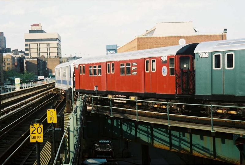 (67k, 800x540)<br><b>Country:</b> United States<br><b>City:</b> New York<br><b>System:</b> New York City Transit<br><b>Location:</b> 207th Street Yard<br><b>Route:</b> Fan Trip<br><b>Car:</b> R-33 Main Line (St. Louis, 1962-63) 9069 <br><b>Photo by:</b> Gary Chatterton<br><b>Date:</b> 5/1/2005<br><b>Viewed (this week/total):</b> 0 / 2202