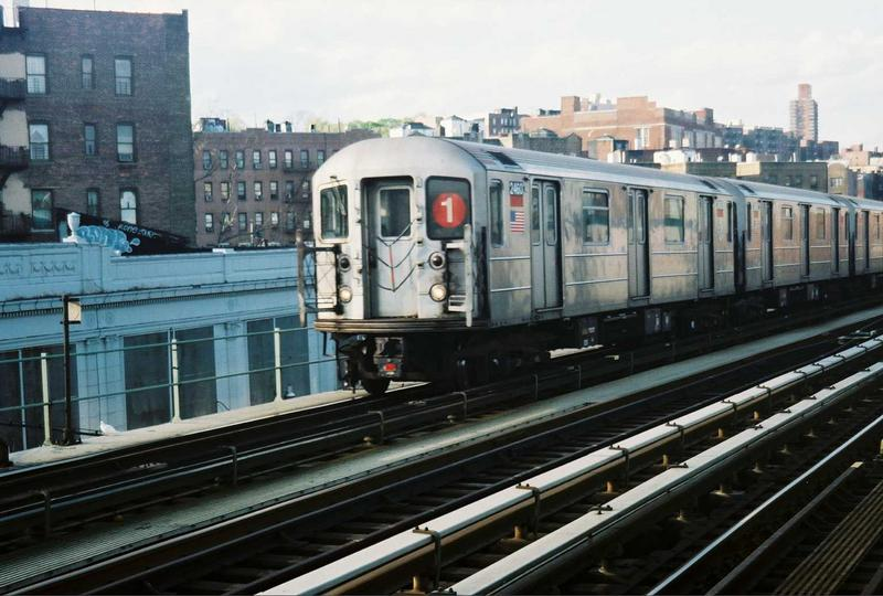 (74k, 800x540)<br><b>Country:</b> United States<br><b>City:</b> New York<br><b>System:</b> New York City Transit<br><b>Line:</b> IRT West Side Line<br><b>Location:</b> 207th Street <br><b>Route:</b> 1<br><b>Car:</b> R-62A (Bombardier, 1984-1987)  2460 <br><b>Photo by:</b> Gary Chatterton<br><b>Date:</b> 5/1/2005<br><b>Viewed (this week/total):</b> 0 / 2715