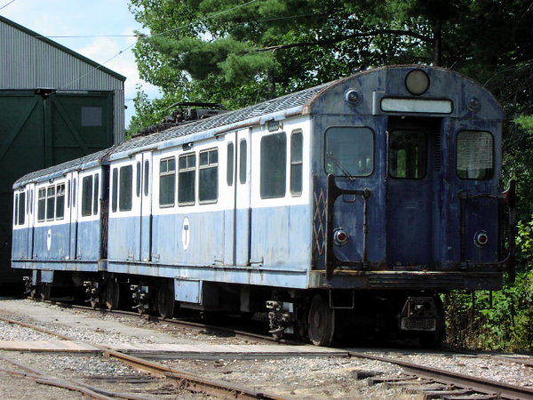 (99k, 600x450)<br><b>Country:</b> United States<br><b>City:</b> Kennebunk, ME<br><b>System:</b> Seashore Trolley Museum <br><b>Car:</b> MBTA 0550 Series (St. Louis, 1951)  0599 <br><b>Photo by:</b> Trevor Logan<br><b>Date:</b> 8/21/2001<br><b>Viewed (this week/total):</b> 5 / 3613