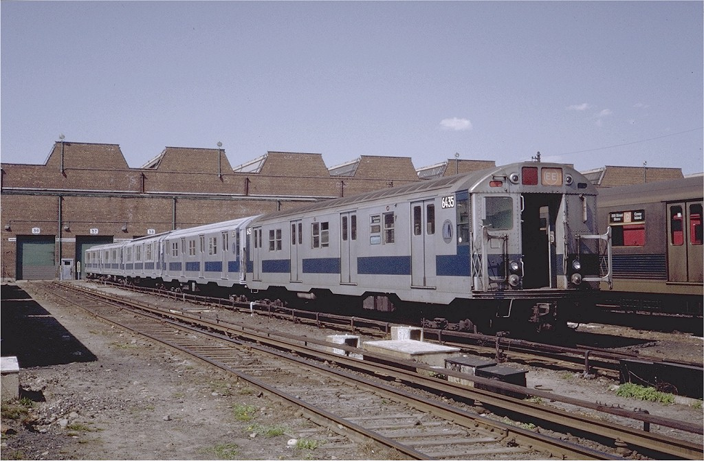 (215k, 1024x671)<br><b>Country:</b> United States<br><b>City:</b> New York<br><b>System:</b> New York City Transit<br><b>Location:</b> Coney Island Yard<br><b>Car:</b> R-16 (American Car & Foundry, 1955) 6435 <br><b>Photo by:</b> Steve Zabel<br><b>Collection of:</b> Joe Testagrose<br><b>Date:</b> 4/23/1971<br><b>Viewed (this week/total):</b> 12 / 2478