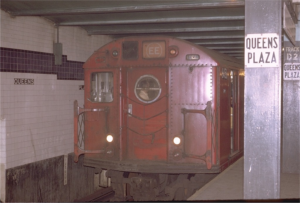 (180k, 1024x691)<br><b>Country:</b> United States<br><b>City:</b> New York<br><b>System:</b> New York City Transit<br><b>Line:</b> IND Queens Boulevard Line<br><b>Location:</b> Queens Plaza <br><b>Route:</b> EE<br><b>Car:</b> R-16 (American Car & Foundry, 1955) 6456 <br><b>Photo by:</b> Joe Testagrose<br><b>Date:</b> 5/12/1970<br><b>Viewed (this week/total):</b> 1 / 2645