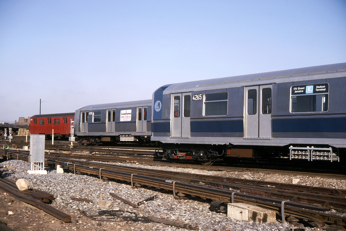 (410k, 1044x712)<br><b>Country:</b> United States<br><b>City:</b> New York<br><b>System:</b> New York City Transit<br><b>Location:</b> Coney Island Yard<br><b>Car:</b> R-40M (St. Louis, 1969)  4265 <br><b>Photo by:</b> Doug Grotjahn<br><b>Collection of:</b> David Pirmann<br><b>Date:</b> 1/12/1969<br><b>Viewed (this week/total):</b> 5 / 3568