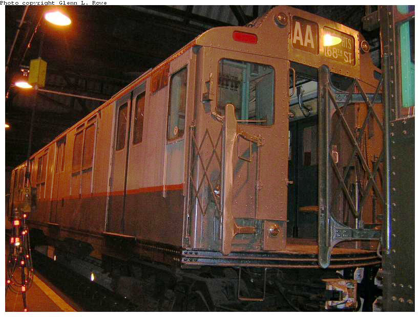 (148k, 820x620)<br><b>Country:</b> United States<br><b>City:</b> New York<br><b>System:</b> New York City Transit<br><b>Location:</b> 207th Street Shop<br><b>Car:</b> R-7A (Pullman, 1938)  1575 <br><b>Photo by:</b> Glenn L. Rowe<br><b>Date:</b> 4/29/2003<br><b>Viewed (this week/total):</b> 0 / 2939