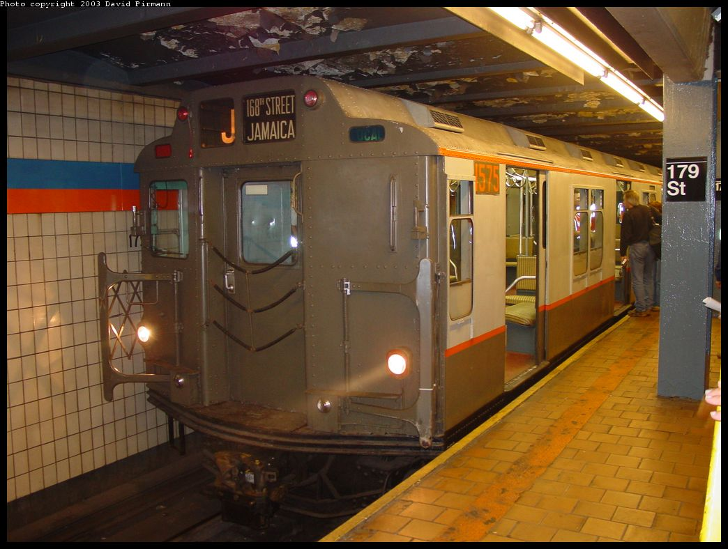 (130k, 1044x788)<br><b>Country:</b> United States<br><b>City:</b> New York<br><b>System:</b> New York City Transit<br><b>Line:</b> IND Queens Boulevard Line<br><b>Location:</b> 179th Street <br><b>Route:</b> Fan Trip<br><b>Car:</b> R-7A (Pullman, 1938)  1575 <br><b>Photo by:</b> David Pirmann<br><b>Date:</b> 6/8/2003<br><b>Viewed (this week/total):</b> 6 / 8770