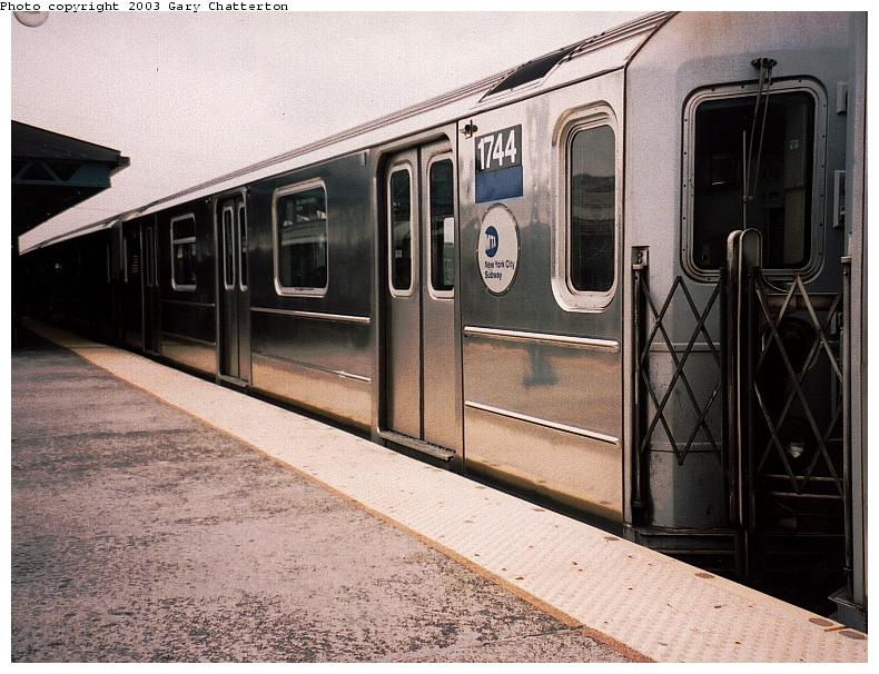(94k, 790x606)<br><b>Country:</b> United States<br><b>City:</b> New York<br><b>System:</b> New York City Transit<br><b>Line:</b> IRT Flushing Line<br><b>Location:</b> 61st Street/Woodside <br><b>Route:</b> 7<br><b>Car:</b> R-62A (Bombardier, 1984-1987)  1744 <br><b>Photo by:</b> Gary Chatterton<br><b>Date:</b> 5/24/2003<br><b>Viewed (this week/total):</b> 3 / 3112