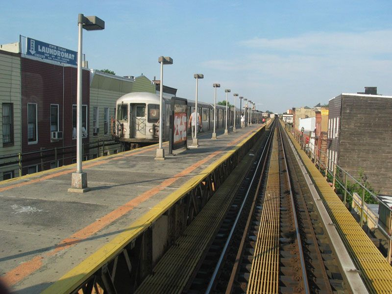(106k, 800x600)<br><b>Country:</b> United States<br><b>City:</b> New York<br><b>System:</b> New York City Transit<br><b>Line:</b> BMT Nassau Street/Jamaica Line<br><b>Location:</b> Cleveland Street <br><b>Photo by:</b> Robert Pastore<br><b>Date:</b> 4/27/2003<br><b>Viewed (this week/total):</b> 4 / 3239