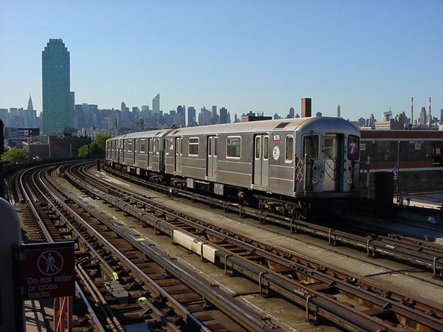(62k, 640x480)<br><b>Country:</b> United States<br><b>City:</b> New York<br><b>System:</b> New York City Transit<br><b>Line:</b> IRT Flushing Line<br><b>Location:</b> 33rd Street/Rawson Street <br><b>Route:</b> 7<br><b>Car:</b> R-62A (Bombardier, 1984-1987)  1676 <br><b>Photo by:</b> Salaam Allah<br><b>Date:</b> 9/17/2002<br><b>Viewed (this week/total):</b> 2 / 2819