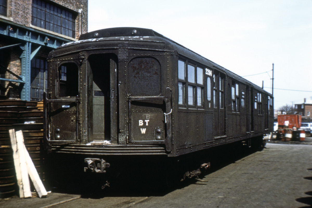 (227k, 1024x695)<br><b>Country:</b> United States<br><b>City:</b> New York<br><b>System:</b> New York City Transit<br><b>Location:</b> Coney Island Yard<br><b>Car:</b> BMT A/B-Type Standard 2204 <br><b>Photo by:</b> Joe Testagrose<br><b>Date:</b> 4/13/1971<br><b>Viewed (this week/total):</b> 9 / 3416