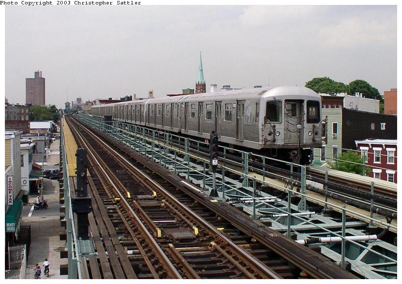 (93k, 820x580)<br><b>Country:</b> United States<br><b>City:</b> New York<br><b>System:</b> New York City Transit<br><b>Line:</b> BMT Myrtle Avenue Line<br><b>Location:</b> Central Avenue <br><b>Route:</b> J<br><b>Car:</b> R-42 (St. Louis, 1969-1970)  4753 <br><b>Photo by:</b> Christopher Sattler<br><b>Date:</b> 7/31/2003<br><b>Viewed (this week/total):</b> 0 / 4409
