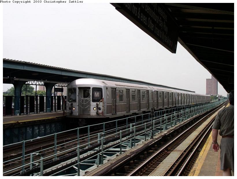 (84k, 820x618)<br><b>Country:</b> United States<br><b>City:</b> New York<br><b>System:</b> New York City Transit<br><b>Line:</b> BMT Myrtle Avenue Line<br><b>Location:</b> Central Avenue <br><b>Route:</b> J<br><b>Car:</b> R-40M (St. Louis, 1969)  4533 <br><b>Photo by:</b> Christopher Sattler<br><b>Date:</b> 7/31/2003<br><b>Viewed (this week/total):</b> 0 / 3712
