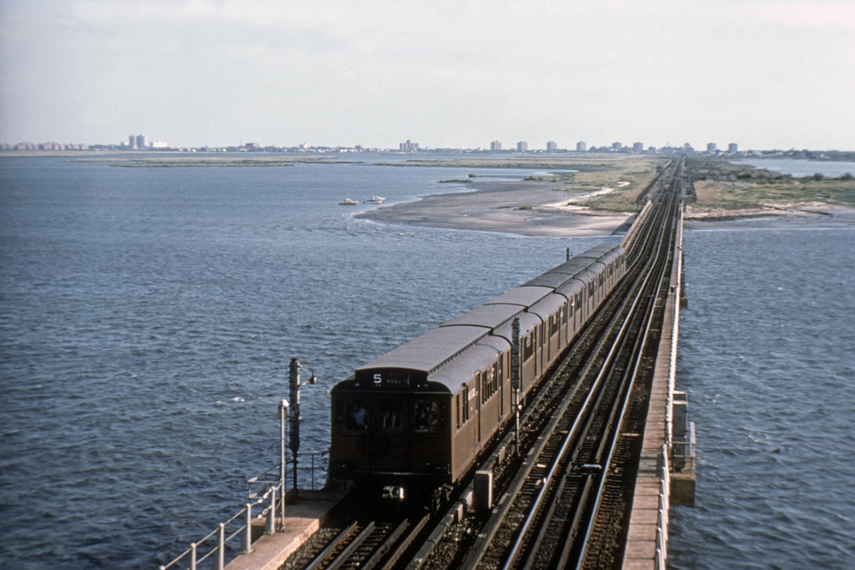 (424k, 1044x708)<br><b>Country:</b> United States<br><b>City:</b> New York<br><b>System:</b> New York City Transit<br><b>Line:</b> IND Rockaway<br><b>Location:</b> South Channel Bridge <br><b>Route:</b> Fan Trip<br><b>Car:</b> BMT D-Type Triplex 6112 <br><b>Collection of:</b> David Pirmann<br><b>Viewed (this week/total):</b> 1 / 7714