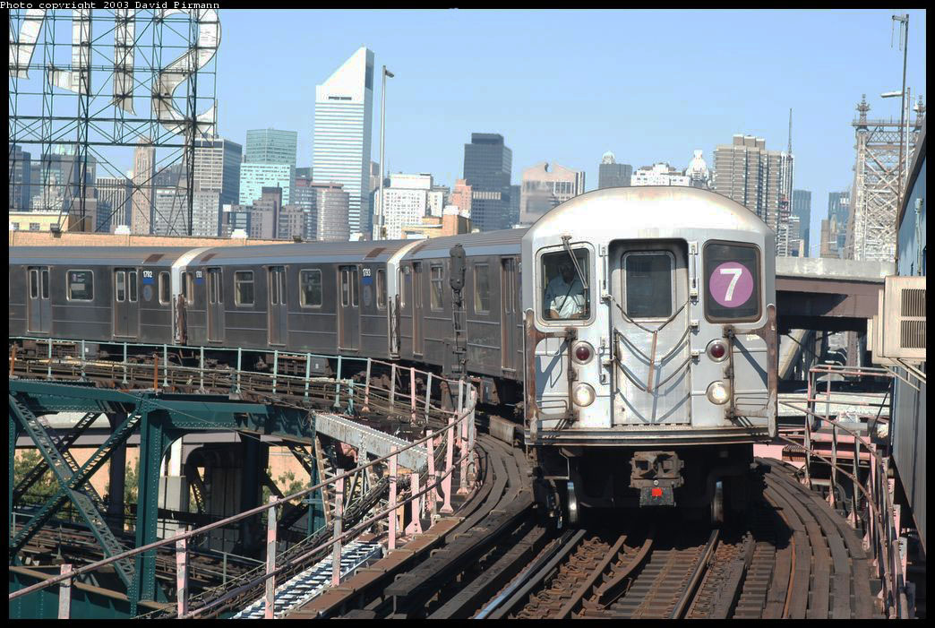 (253k, 1044x701)<br><b>Country:</b> United States<br><b>City:</b> New York<br><b>System:</b> New York City Transit<br><b>Line:</b> IRT Flushing Line<br><b>Location:</b> Queensborough Plaza <br><b>Route:</b> 7<br><b>Car:</b> R-62A (Bombardier, 1984-1987)  1795 <br><b>Photo by:</b> David Pirmann<br><b>Date:</b> 8/23/2003<br><b>Viewed (this week/total):</b> 2 / 8570