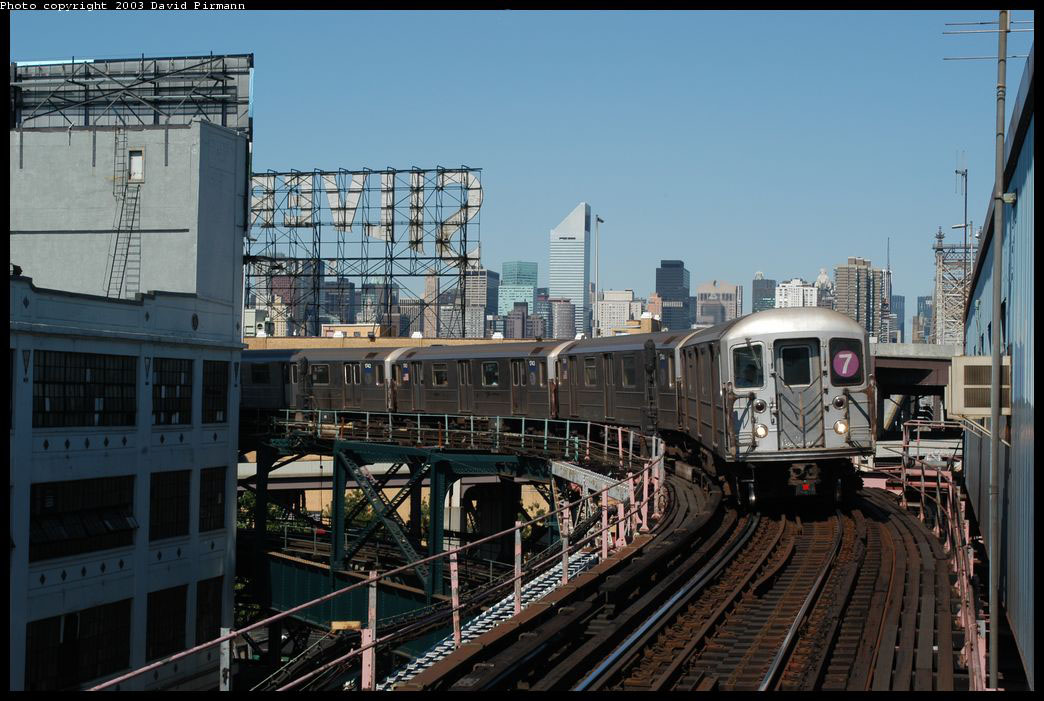 (215k, 1044x701)<br><b>Country:</b> United States<br><b>City:</b> New York<br><b>System:</b> New York City Transit<br><b>Line:</b> IRT Flushing Line<br><b>Location:</b> Queensborough Plaza <br><b>Route:</b> 7<br><b>Car:</b> R-62A (Bombardier, 1984-1987)  1745 <br><b>Photo by:</b> David Pirmann<br><b>Date:</b> 8/23/2003<br><b>Viewed (this week/total):</b> 2 / 3959