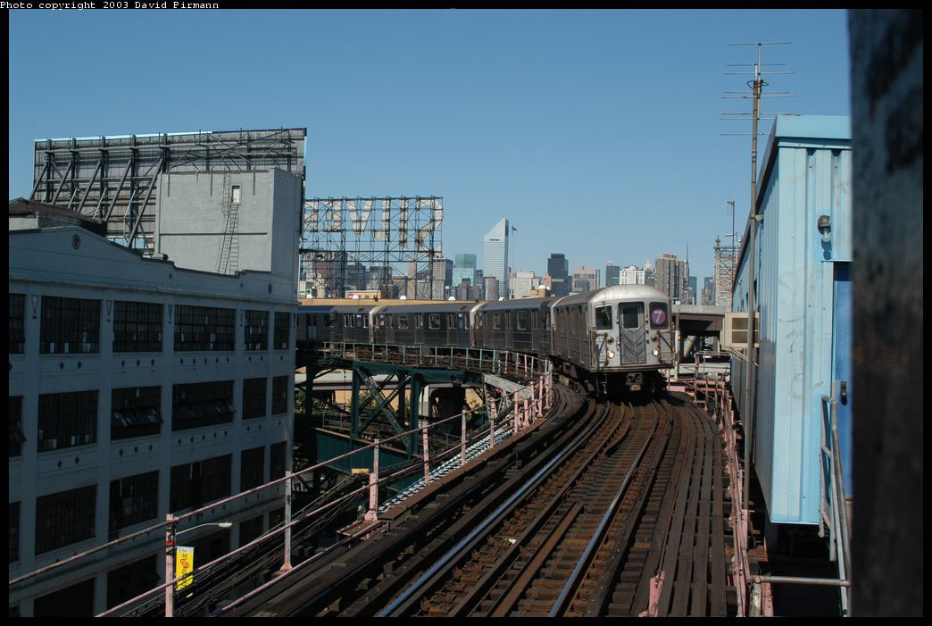 (196k, 1044x701)<br><b>Country:</b> United States<br><b>City:</b> New York<br><b>System:</b> New York City Transit<br><b>Line:</b> IRT Flushing Line<br><b>Location:</b> Queensborough Plaza <br><b>Route:</b> 7<br><b>Car:</b> R-62A (Bombardier, 1984-1987)  1851 <br><b>Photo by:</b> David Pirmann<br><b>Date:</b> 8/23/2003<br><b>Viewed (this week/total):</b> 0 / 2752