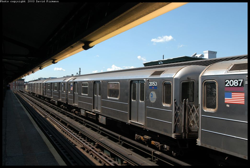 (153k, 1044x701)<br><b>Country:</b> United States<br><b>City:</b> New York<br><b>System:</b> New York City Transit<br><b>Line:</b> IRT Flushing Line<br><b>Location:</b> Court House Square/45th Road <br><b>Route:</b> 7<br><b>Car:</b> R-62A (Bombardier, 1984-1987)  2053 <br><b>Photo by:</b> David Pirmann<br><b>Date:</b> 8/23/2003<br><b>Viewed (this week/total):</b> 1 / 2724