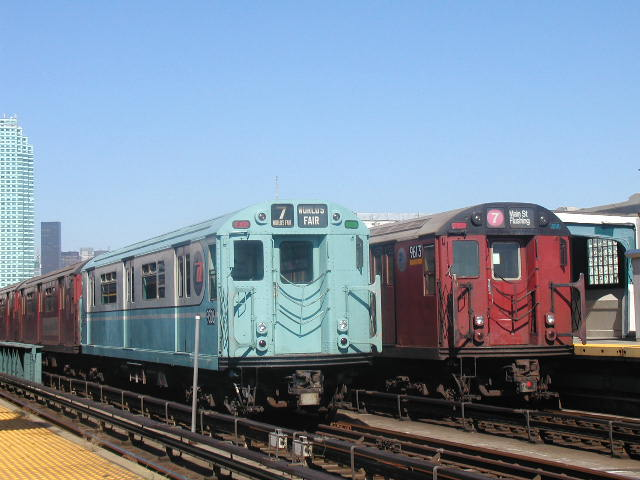 (61k, 640x480)<br><b>Country:</b> United States<br><b>City:</b> New York<br><b>System:</b> New York City Transit<br><b>Line:</b> IRT Flushing Line<br><b>Location:</b> 33rd Street/Rawson Street <br><b>Route:</b> Fan Trip<br><b>Car:</b> R-33 World's Fair (St. Louis, 1963-64) 9306 <br><b>Photo by:</b> Carlton Walton<br><b>Date:</b> 8/23/2003<br><b>Viewed (this week/total):</b> 0 / 3262