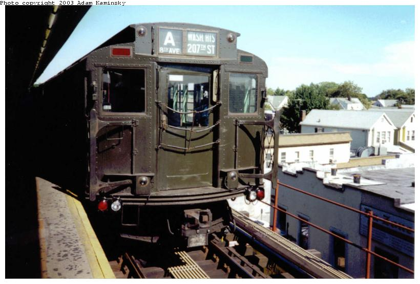(66k, 820x555)<br><b>Country:</b> United States<br><b>City:</b> New York<br><b>System:</b> New York City Transit<br><b>Line:</b> IND Fulton Street Line<br><b>Location:</b> Lefferts Boulevard <br><b>Route:</b> Fan Trip<br><b>Car:</b> R-4 (American Car & Foundry, 1932-1933) 484 <br><b>Photo by:</b> Adam Kaminsky<br><b>Date:</b> 8/24/2003<br><b>Viewed (this week/total):</b> 3 / 3305