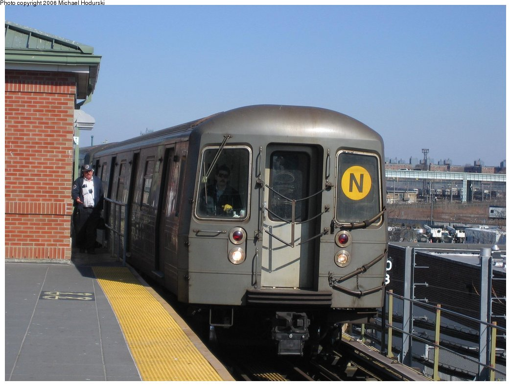 (151k, 1044x788)<br><b>Country:</b> United States<br><b>City:</b> New York<br><b>System:</b> New York City Transit<br><b>Location:</b> Coney Island/Stillwell Avenue<br><b>Route:</b> N<br><b>Car:</b> R-68A (Kawasaki, 1988-1989)  5160 <br><b>Photo by:</b> Michael Hodurski<br><b>Date:</b> 3/11/2006<br><b>Viewed (this week/total):</b> 3 / 3292