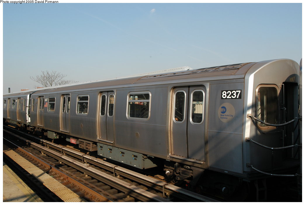 (161k, 1044x701)<br><b>Country:</b> United States<br><b>City:</b> New York<br><b>System:</b> New York City Transit<br><b>Line:</b> BMT Canarsie Line<br><b>Location:</b> Livonia Avenue <br><b>Route:</b> L<br><b>Car:</b> R-143 (Kawasaki, 2001-2002) 8237 <br><b>Photo by:</b> David Pirmann<br><b>Date:</b> 11/3/2003<br><b>Viewed (this week/total):</b> 0 / 3077