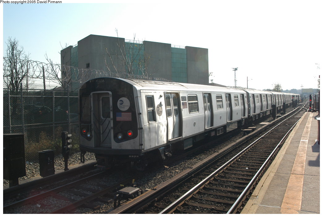 (190k, 1044x701)<br><b>Country:</b> United States<br><b>City:</b> New York<br><b>System:</b> New York City Transit<br><b>Line:</b> BMT Canarsie Line<br><b>Location:</b> East 105th Street <br><b>Route:</b> L<br><b>Car:</b> R-143 (Kawasaki, 2001-2002) 8265 <br><b>Photo by:</b> David Pirmann<br><b>Date:</b> 11/3/2003<br><b>Viewed (this week/total):</b> 0 / 5003