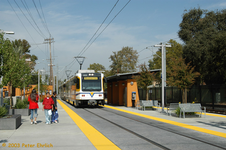 (157k, 720x478)<br><b>Country:</b> United States<br><b>City:</b> Sacramento, CA<br><b>System:</b> SACRT Light Rail<br><b>Location:</b> 4th Avenue/Wayne Hultgren <br><b>Car:</b> Sacramento CAF LRV  205 <br><b>Photo by:</b> Peter Ehrlich<br><b>Date:</b> 10/18/2003<br><b>Viewed (this week/total):</b> 0 / 1248