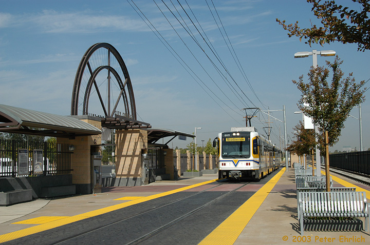 (176k, 720x478)<br><b>Country:</b> United States<br><b>City:</b> Sacramento, CA<br><b>System:</b> SACRT Light Rail<br><b>Location:</b> City College <br><b>Car:</b> Sacramento CAF LRV  205 <br><b>Photo by:</b> Peter Ehrlich<br><b>Date:</b> 10/18/2003<br><b>Viewed (this week/total):</b> 3 / 1390
