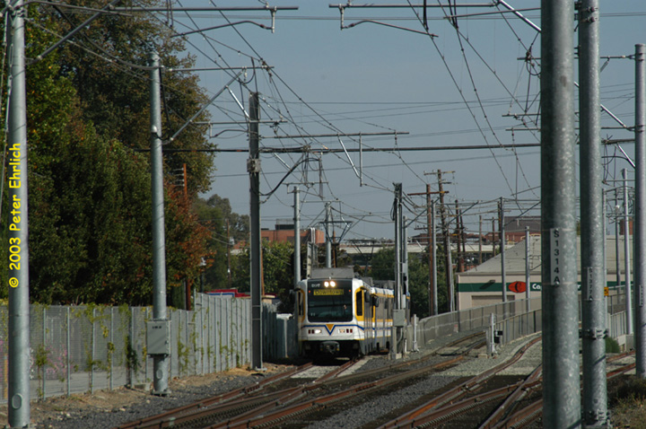 (176k, 720x478)<br><b>Country:</b> United States<br><b>City:</b> Sacramento, CA<br><b>System:</b> SACRT Light Rail<br><b>Location:</b> Bee Junction/Bee Bridge <br><b>Car:</b> Sacramento CAF LRV  207 <br><b>Photo by:</b> Peter Ehrlich<br><b>Date:</b> 10/18/2003<br><b>Viewed (this week/total):</b> 1 / 1500