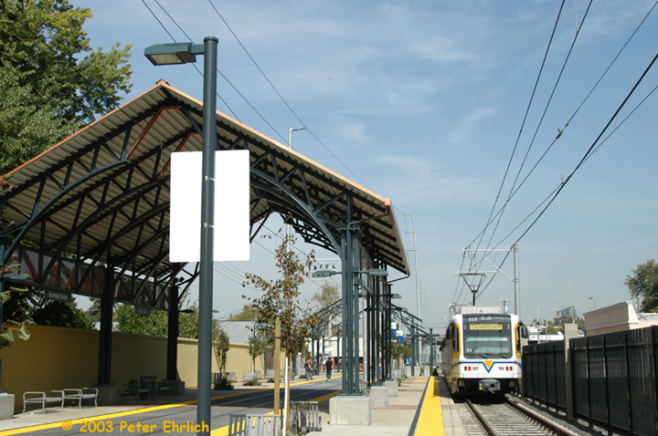 (156k, 720x478)<br><b>Country:</b> United States<br><b>City:</b> Sacramento, CA<br><b>System:</b> SACRT Light Rail<br><b>Location:</b> Broadway <br><b>Car:</b> Sacramento CAF LRV  215 <br><b>Photo by:</b> Peter Ehrlich<br><b>Date:</b> 10/18/2003<br><b>Viewed (this week/total):</b> 3 / 996