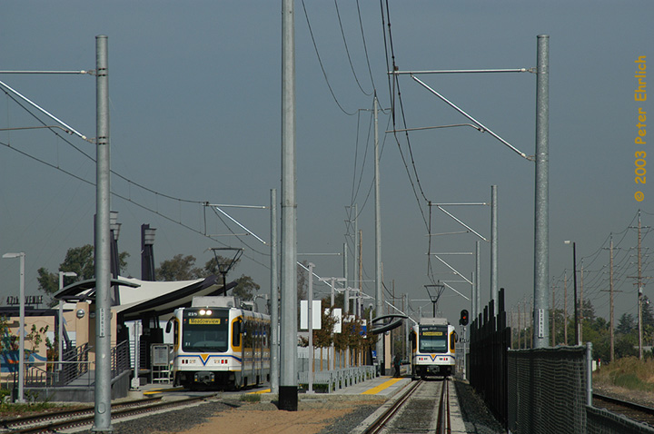 (130k, 720x478)<br><b>Country:</b> United States<br><b>City:</b> Sacramento, CA<br><b>System:</b> SACRT Light Rail<br><b>Location:</b> 47th Avenue <br><b>Car:</b> Sacramento CAF LRV  218 <br><b>Photo by:</b> Peter Ehrlich<br><b>Date:</b> 10/18/2003<br><b>Viewed (this week/total):</b> 0 / 1308