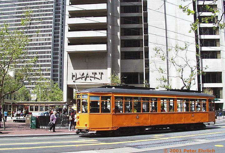 (120k, 720x488)<br><b>Country:</b> United States<br><b>City:</b> San Francisco/Bay Area, CA<br><b>System:</b> SF MUNI<br><b>Location:</b> Market/Drumm/California <br><b>Route:</b> F-Market<br><b>Car:</b> Milan Milano/Peter Witt (1927-1930)  1795 <br><b>Photo by:</b> Peter Ehrlich<br><b>Date:</b> 4/17/2001<br><b>Viewed (this week/total):</b> 4 / 1633