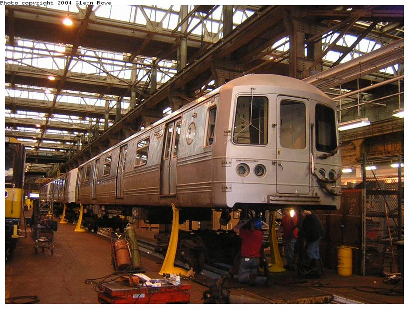 (141k, 820x620)<br><b>Country:</b> United States<br><b>City:</b> New York<br><b>System:</b> New York City Transit<br><b>Location:</b> 207th Street Shop<br><b>Car:</b> R-44 (St. Louis, 1971-73) 5248 <br><b>Photo by:</b> Glenn L. Rowe<br><b>Date:</b> 1/19/2004<br><b>Viewed (this week/total):</b> 1 / 4005