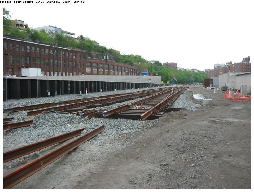 (86k, 820x620)<br><b>Country:</b> United States<br><b>City:</b> Hoboken, NJ<br><b>System:</b> Hudson Bergen Light Rail<br><b>Location:</b> Between Hoboken Wye and Paterson Ave. <br><b>Photo by:</b> Daniel C. Boyar<br><b>Date:</b> 5/16/2003<br><b>Notes:</b> Prefabricated crossover<br><b>Viewed (this week/total):</b> 1 / 2051