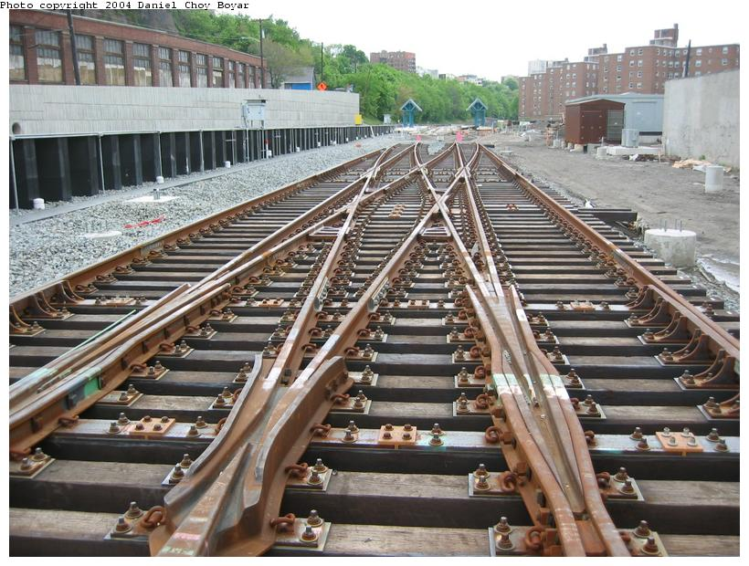 (120k, 820x620)<br><b>Country:</b> United States<br><b>City:</b> Hoboken, NJ<br><b>System:</b> Hudson Bergen Light Rail<br><b>Location:</b> Between Hoboken Wye and Paterson Ave. <br><b>Photo by:</b> Daniel C. Boyar<br><b>Date:</b> 5/16/2003<br><b>Notes:</b> Crossover north of Paterson Av. (facing north)<br><b>Viewed (this week/total):</b> 0 / 2636