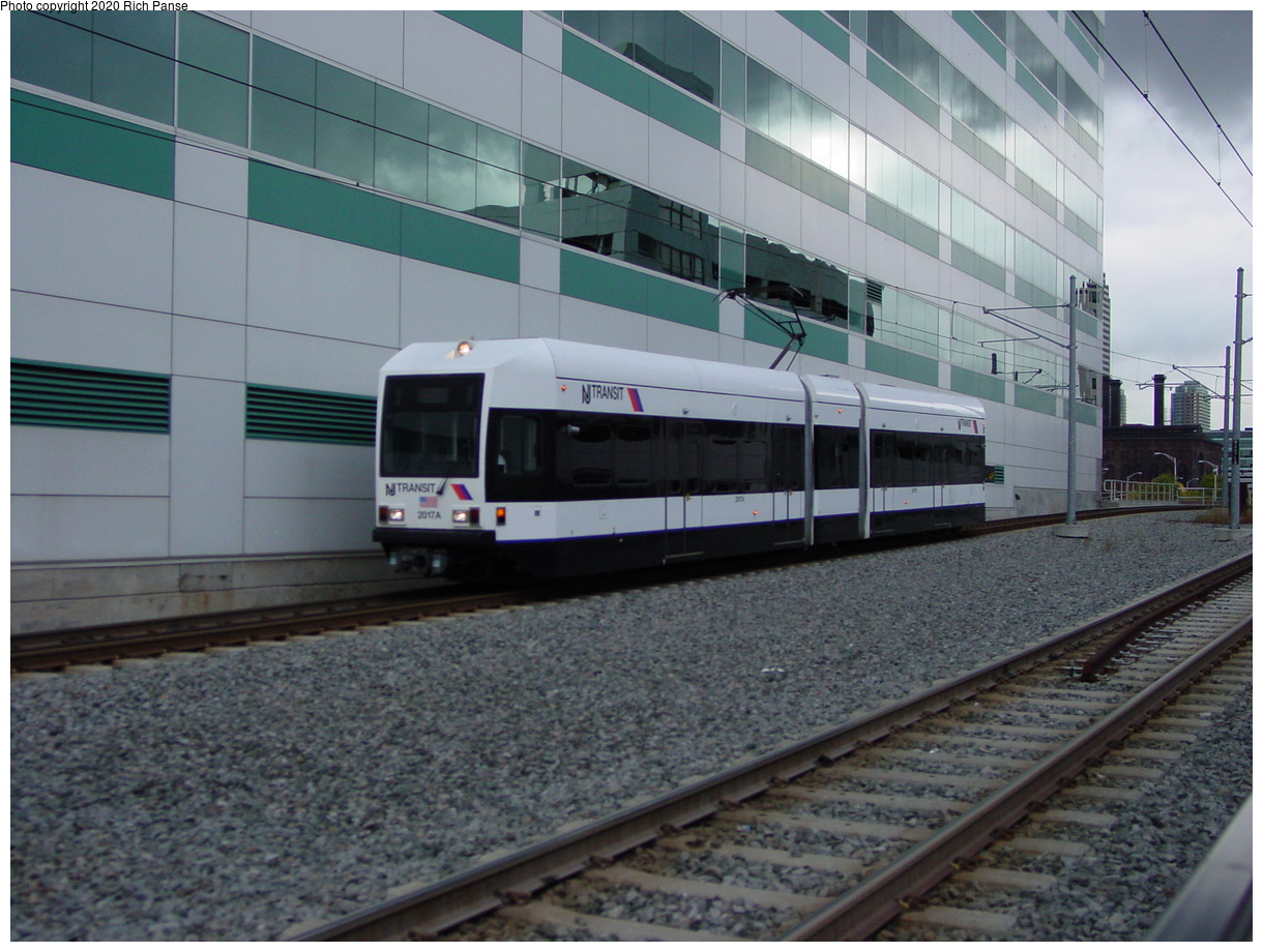 (79k, 820x620)<br><b>Country:</b> United States<br><b>City:</b> Jersey City, NJ<br><b>System:</b> Hudson Bergen Light Rail<br><b>Location:</b> Pavonia/Newport <br><b>Car:</b> NJT-HBLR LRV (Kinki-Sharyo, 1998-99)  2017 <br><b>Photo by:</b> Richard Panse<br><b>Date:</b> 10/29/2003<br><b>Viewed (this week/total):</b> 1 / 2567