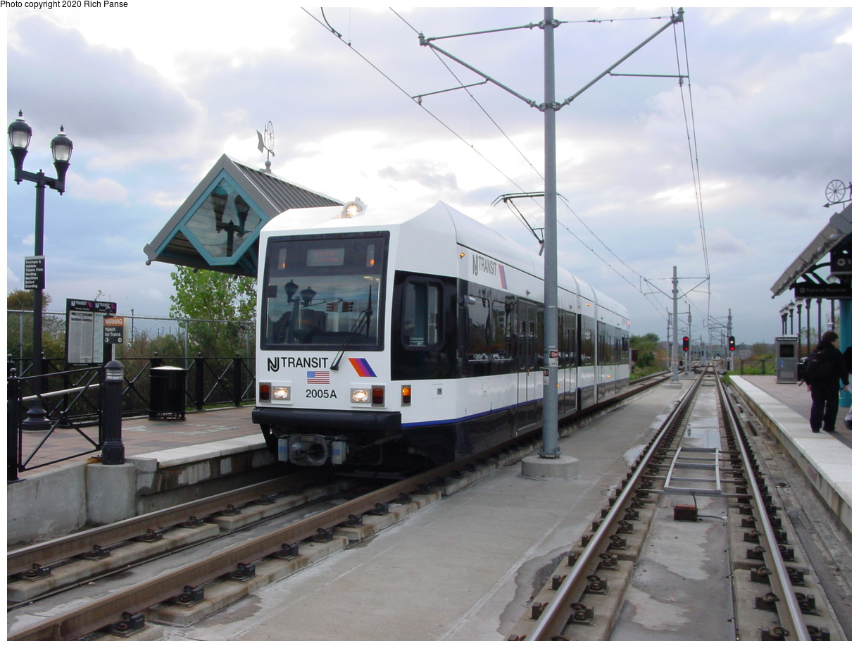 (76k, 820x620)<br><b>Country:</b> United States<br><b>City:</b> Jersey City, NJ<br><b>System:</b> Hudson Bergen Light Rail<br><b>Location:</b> Marin Boulevard <br><b>Car:</b> NJT-HBLR LRV (Kinki-Sharyo, 1998-99)  2005 <br><b>Photo by:</b> Richard Panse<br><b>Date:</b> 10/29/2003<br><b>Viewed (this week/total):</b> 0 / 2379