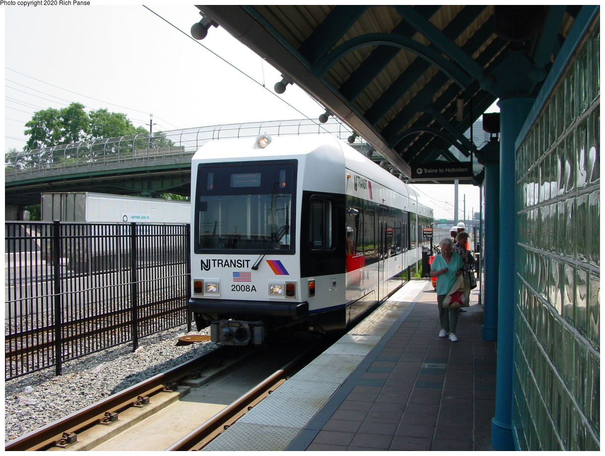 (98k, 820x620)<br><b>Country:</b> United States<br><b>City:</b> Bayonne, NJ<br><b>System:</b> Hudson Bergen Light Rail<br><b>Location:</b> East 45th Street <br><b>Car:</b> NJT-HBLR LRV (Kinki-Sharyo, 1998-99)  2008 <br><b>Photo by:</b> Richard Panse<br><b>Date:</b> 6/24/2003<br><b>Viewed (this week/total):</b> 0 / 2565