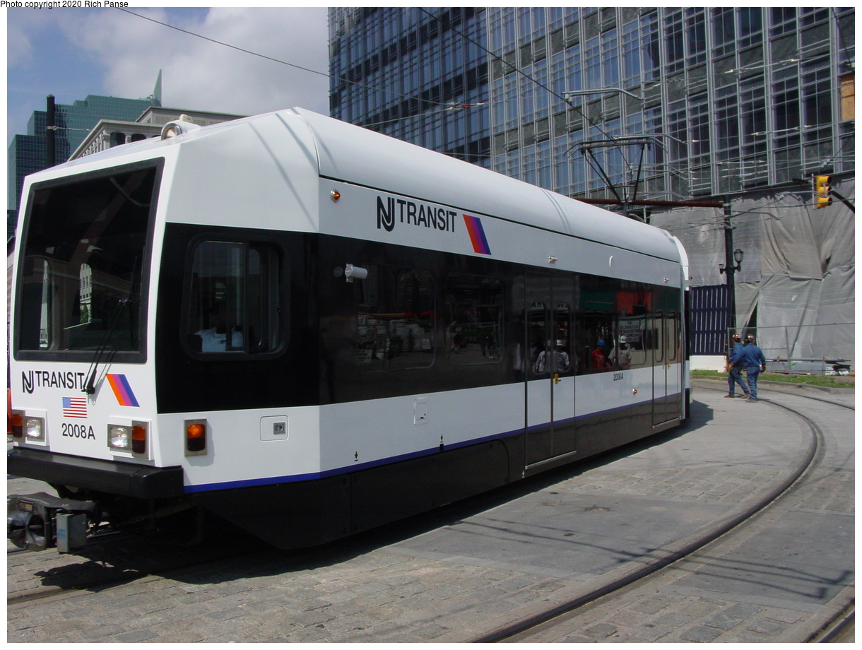 (79k, 820x620)<br><b>Country:</b> United States<br><b>City:</b> Jersey City, NJ<br><b>System:</b> Hudson Bergen Light Rail<br><b>Location:</b> Essex Street <br><b>Car:</b> NJT-HBLR LRV (Kinki-Sharyo, 1998-99)  2008 <br><b>Photo by:</b> Richard Panse<br><b>Date:</b> 6/16/2003<br><b>Viewed (this week/total):</b> 1 / 2193