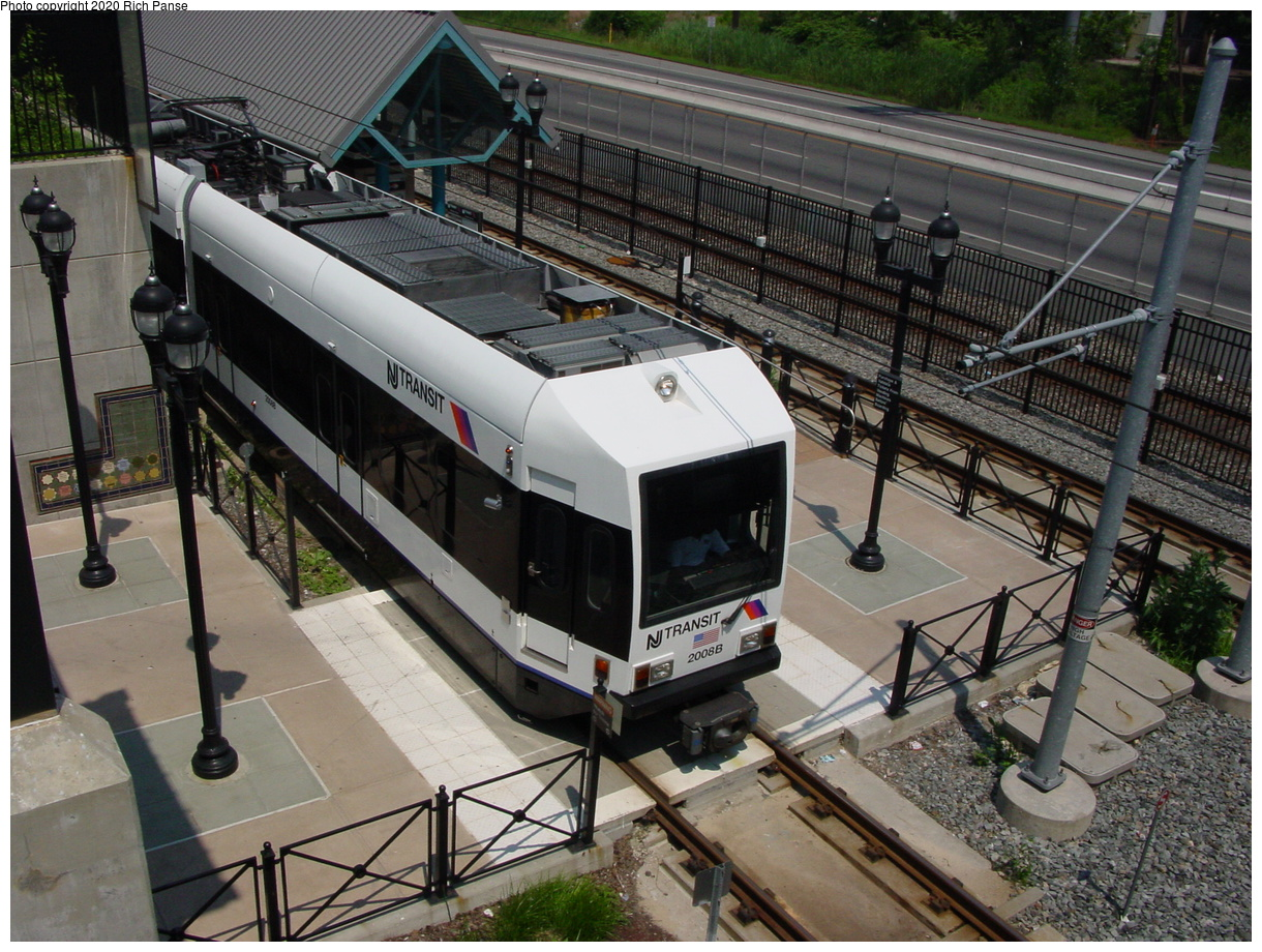 (105k, 820x620)<br><b>Country:</b> United States<br><b>City:</b> Bayonne, NJ<br><b>System:</b> Hudson Bergen Light Rail<br><b>Location:</b> East 45th Street <br><b>Car:</b> NJT-HBLR LRV (Kinki-Sharyo, 1998-99)  2008 <br><b>Photo by:</b> Richard Panse<br><b>Date:</b> 6/24/2003<br><b>Viewed (this week/total):</b> 1 / 3414