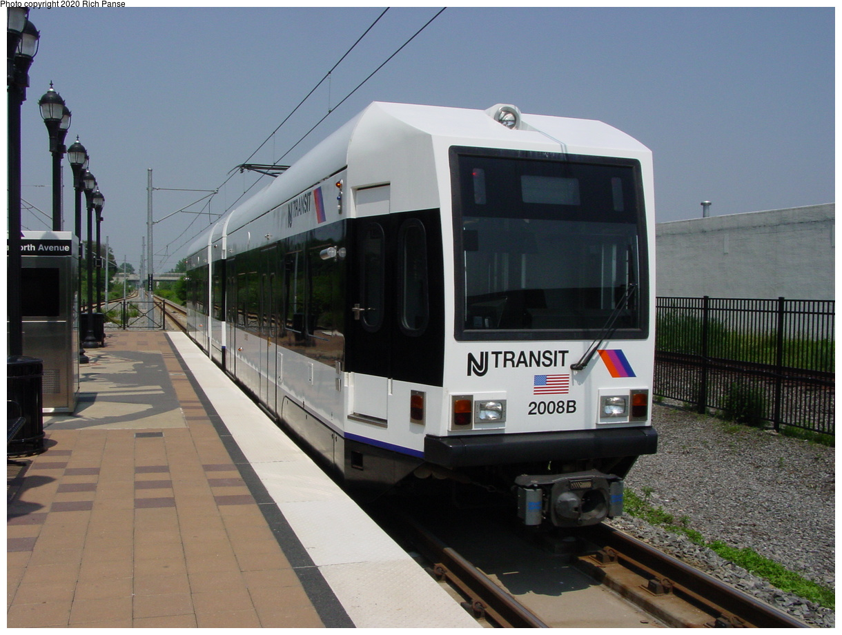 (69k, 820x620)<br><b>Country:</b> United States<br><b>City:</b> Jersey City, NJ<br><b>System:</b> Hudson Bergen Light Rail<br><b>Location:</b> Danforth Avenue <br><b>Car:</b> NJT-HBLR LRV (Kinki-Sharyo, 1998-99)  2008 <br><b>Photo by:</b> Richard Panse<br><b>Date:</b> 6/24/2003<br><b>Viewed (this week/total):</b> 1 / 2807