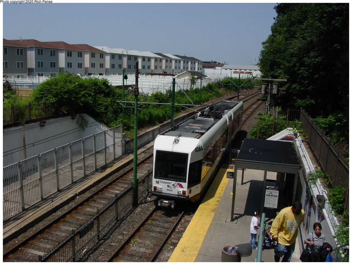 (98k, 820x620)<br><b>Country:</b> United States<br><b>City:</b> Newark, NJ<br><b>System:</b> Newark City Subway<br><b>Line:</b> 7-City Subway<br><b>Location:</b> Park Avenue <br><b>Car:</b> NJT Kinki-Sharyo LRV (Newark) 108 <br><b>Photo by:</b> Richard Panse<br><b>Date:</b> 6/23/2003<br><b>Viewed (this week/total):</b> 0 / 3117