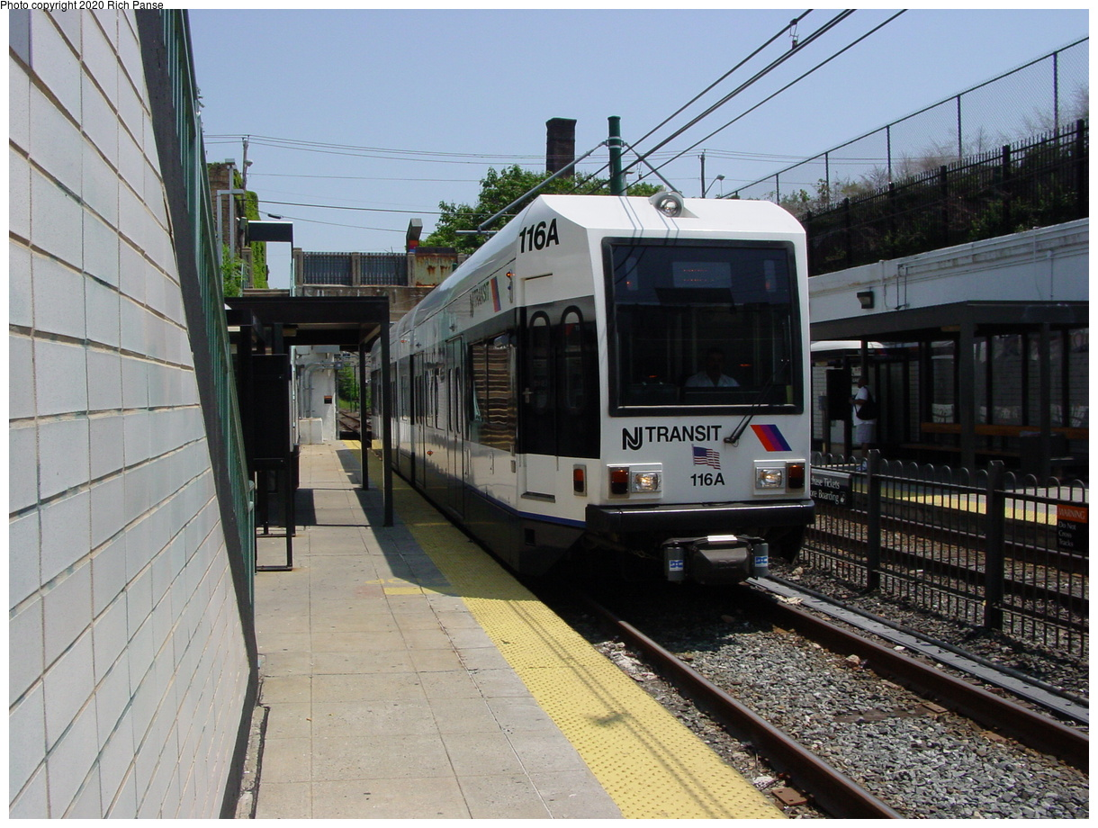 (89k, 820x620)<br><b>Country:</b> United States<br><b>City:</b> Newark, NJ<br><b>System:</b> Newark City Subway<br><b>Line:</b> 7-City Subway<br><b>Location:</b> Norfolk Street <br><b>Car:</b> NJT Kinki-Sharyo LRV (Newark) 116 <br><b>Photo by:</b> Richard Panse<br><b>Date:</b> 6/23/2003<br><b>Viewed (this week/total):</b> 0 / 2498