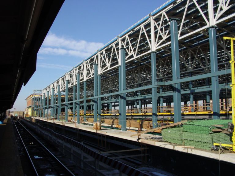 (90k, 768x576)<br><b>Country:</b> United States<br><b>City:</b> New York<br><b>System:</b> New York City Transit<br><b>Location:</b> Coney Island/Stillwell Avenue<br><b>Photo by:</b> Richard Panse<br><b>Date:</b> 2/2004<br><b>Notes:</b> View of new construction<br><b>Viewed (this week/total):</b> 3 / 2166