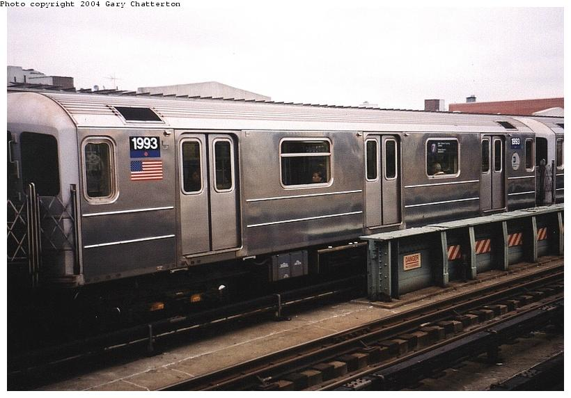 (70k, 820x572)<br><b>Country:</b> United States<br><b>City:</b> New York<br><b>System:</b> New York City Transit<br><b>Line:</b> IRT Flushing Line<br><b>Location:</b> 46th Street/Bliss Street <br><b>Route:</b> 7<br><b>Car:</b> R-62A (Bombardier, 1984-1987)  1993 <br><b>Photo by:</b> Gary Chatterton<br><b>Date:</b> 11/18/2003<br><b>Viewed (this week/total):</b> 2 / 2329