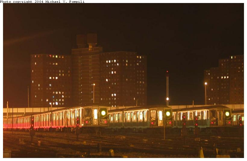 (52k, 820x537)<br><b>Country:</b> United States<br><b>City:</b> New York<br><b>System:</b> New York City Transit<br><b>Location:</b> Coney Island Yard<br><b>Car:</b> R-40 (St. Louis, 1968)   <br><b>Photo by:</b> Michael Pompili<br><b>Date:</b> 12/30/2003<br><b>Viewed (this week/total):</b> 0 / 4879