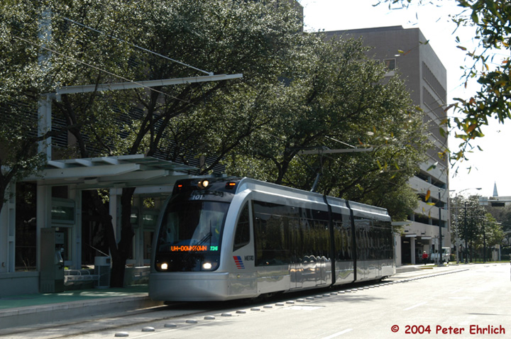 (186k, 720x478)<br><b>Country:</b> United States<br><b>City:</b> Houston, TX<br><b>System:</b> Houston METRORail<br><b>Location:</b> Museum District (San Jacinto) <br><b>Car:</b> Siemens Avanto 101 <br><b>Photo by:</b> Peter Ehrlich<br><b>Date:</b> 2/6/2004<br><b>Viewed (this week/total):</b> 1 / 3159