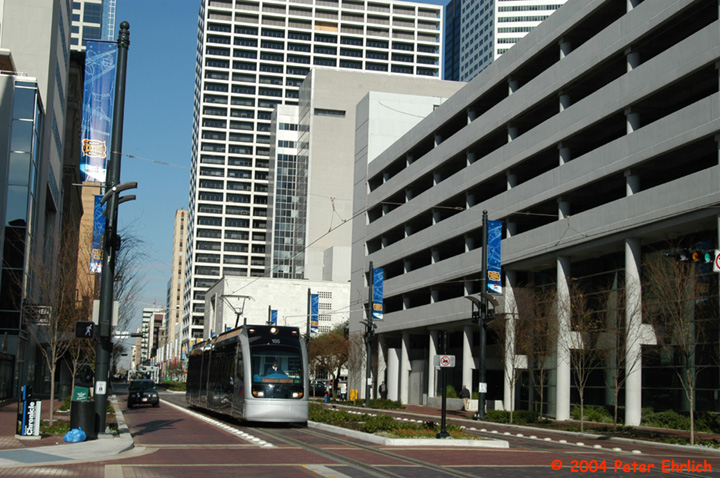 (177k, 720x478)<br><b>Country:</b> United States<br><b>City:</b> Houston, TX<br><b>System:</b> Houston METRORail<br><b>Location:</b> Main & Clay <br><b>Car:</b> Siemens Avanto 105 <br><b>Photo by:</b> Peter Ehrlich<br><b>Date:</b> 2/5/2004<br><b>Viewed (this week/total):</b> 2 / 3324