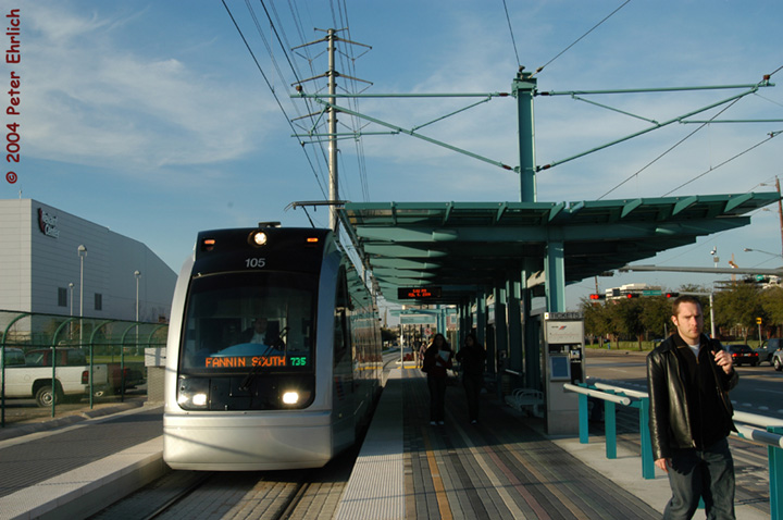 (133k, 720x478)<br><b>Country:</b> United States<br><b>City:</b> Houston, TX<br><b>System:</b> Houston METRORail<br><b>Location:</b> Reliant Park <br><b>Car:</b> Siemens Avanto 105 <br><b>Photo by:</b> Peter Ehrlich<br><b>Date:</b> 2/6/2004<br><b>Viewed (this week/total):</b> 2 / 2535