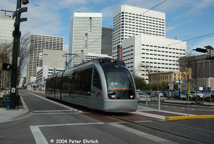(161k, 720x484)<br><b>Country:</b> United States<br><b>City:</b> Houston, TX<br><b>System:</b> Houston METRORail<br><b>Location:</b> Bell <br><b>Car:</b> Siemens Avanto 107 <br><b>Photo by:</b> Peter Ehrlich<br><b>Date:</b> 2/5/2004<br><b>Viewed (this week/total):</b> 1 / 3081