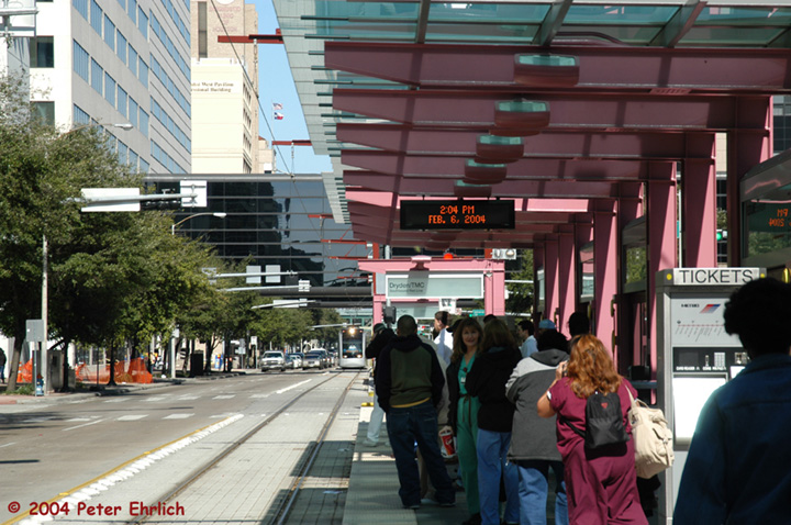 (171k, 720x478)<br><b>Country:</b> United States<br><b>City:</b> Houston, TX<br><b>System:</b> Houston METRORail<br><b>Location:</b> Dryden-TMC <br><b>Car:</b> Siemens Avanto 109 <br><b>Photo by:</b> Peter Ehrlich<br><b>Date:</b> 2/6/2004<br><b>Viewed (this week/total):</b> 2 / 3042